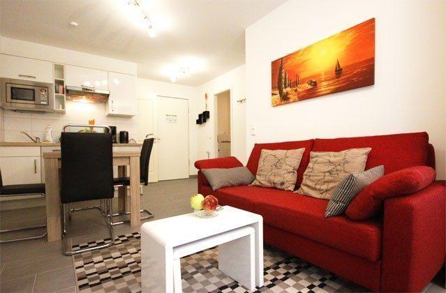 Wohnbereich Rügen Ferienwohnung Sunrise A 2.18