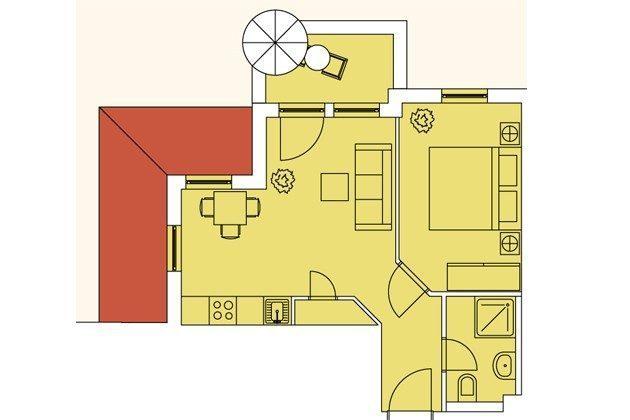 Lage im Haus Meeresblick Ferienwohnung Seeschwalbe A 2.21 Ref. 128704