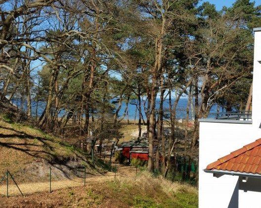 Blick bis zum Meer Ferienwohnung Aquamarin im Haus Meeresblick Baabe Ref. 128708-P