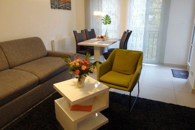 Wohnbereich Ferienwohnung Möwenruf A 2.25 Haus Meeresblick