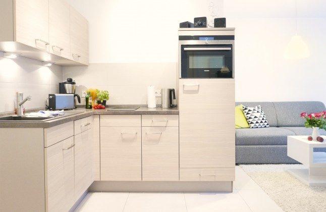 Küchenzeile Ferienwohnung Möwenruf A 2.25 Haus Meeresblick