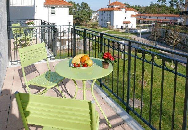 die beiden Balkone Ferienwohnung Bernstein A 2.30