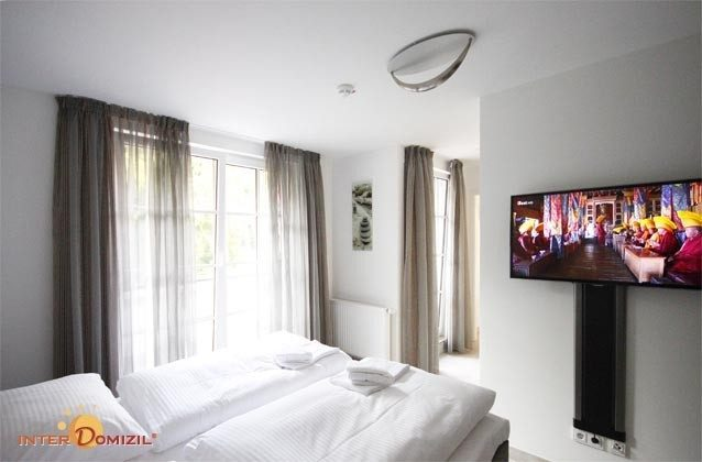 Schlafzimmer - Ostsee Baabe Ferienwohnung Sonnendeck A 3.12 - Objekt 128719-1