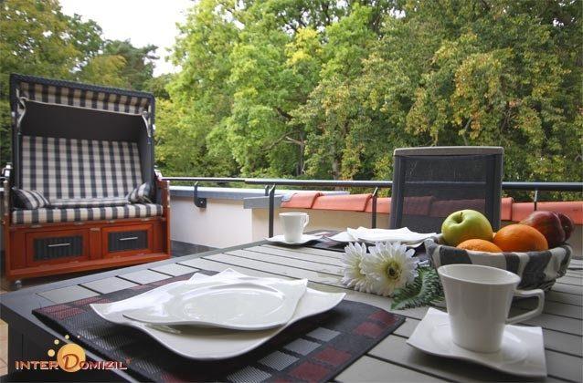 Terrasse - Ostsee Baabe Ferienwohnung Sonnendeck A 3.12  - Objekt 128719-1