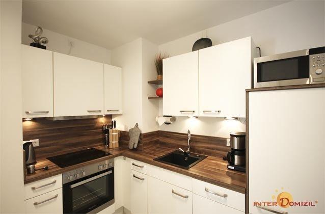 Küchenzeile - Ostsee Baabe Ferienwohnung Sonnendeck A 3.12 - Objekt 128719-1