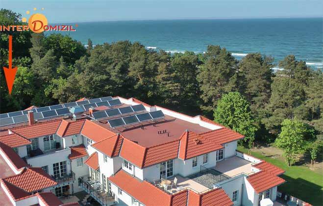 Lage im Haus Meeresblick Ref. 131422  Baabe auf Rügen