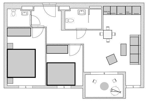 Rügen Haus Meeresblick Grundriss Ferienwohnung Ref. 134062