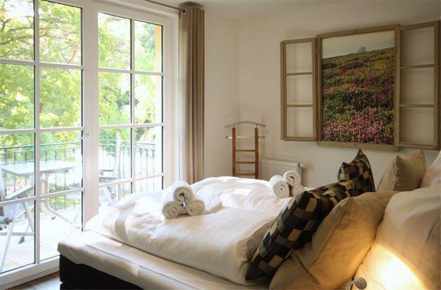 Schlafzimmer Rügen Ferienwohnung Strandburg Ref. 136069