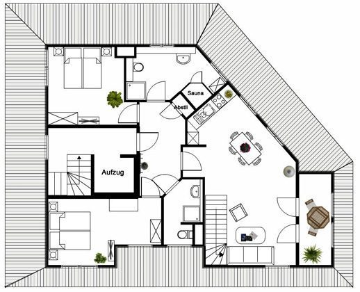Grundriss Ebene 1 Rügen Baabe Penthouse Ref 136611