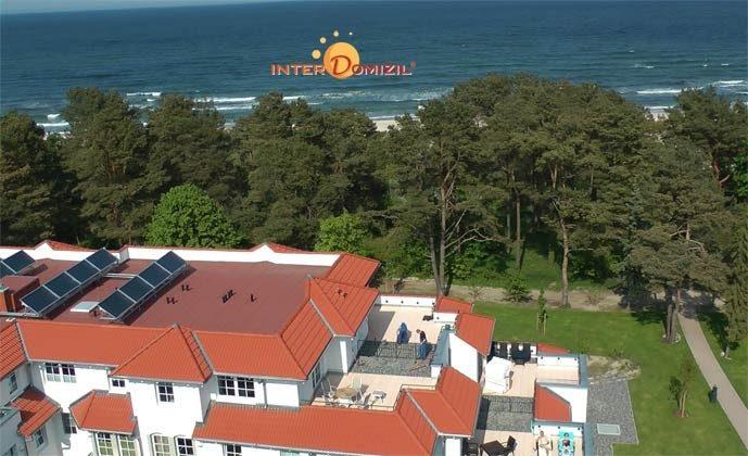 Blick von oben auf das Haus Meeresblick