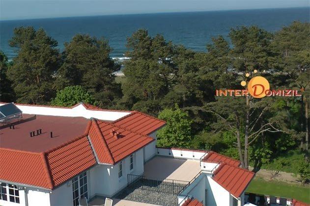 Blick auf das Haus Meeresblick und Meer
