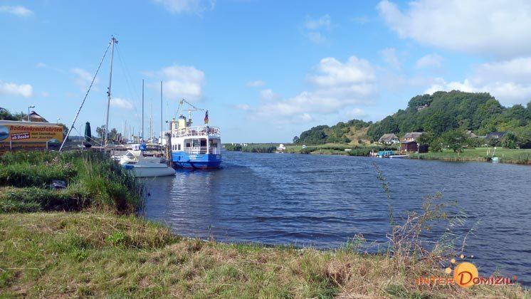 Der Hafen am Bodden von Baabe