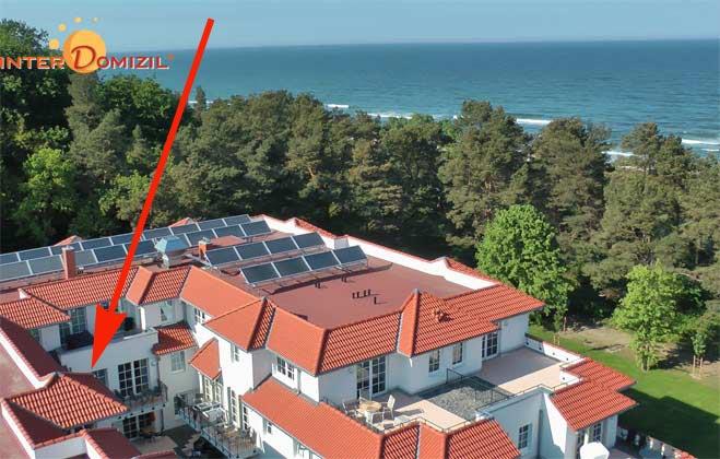 Lage im Haus Meeresblick Meeresblick Baabe Fewo Leuchtturm A 2.06 Ref. 139563
