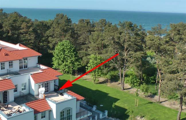 Lage im Haus Meeresblick Baabe auf Rügen
