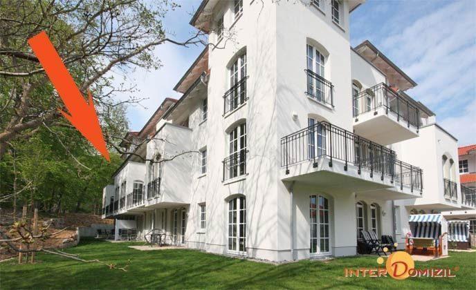 Lage im Haus Meeresblick Baabe Ferienwohnung Kapitänskajüte A2.27 Ref. 155476-1