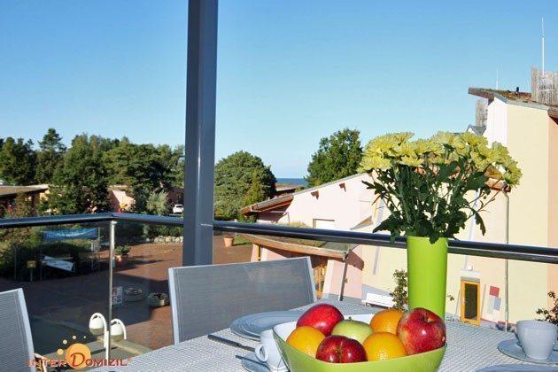Ausblick Balkon mit TV  Baabe Strandvilla Meerblick Ref 158481