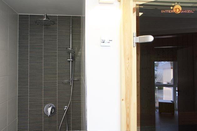 Dusche und Sauna Dachgeschosswohnung Strandvilla Baabe Ref. 159404