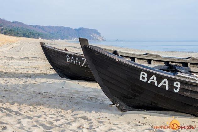 Fischerboote am Strand von Baabe Wohnung Sedina 175682