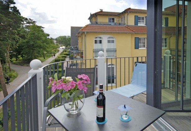 Balkon und LIege Strandvilla Andrea Wohnung Sedina 175682
