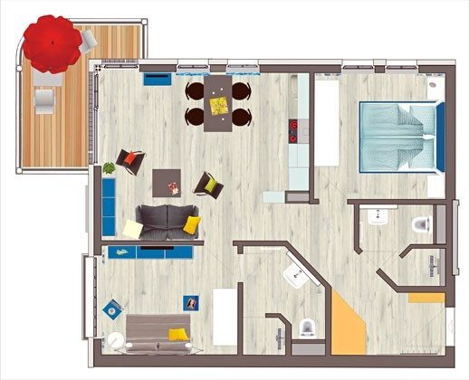 Grundriss Strandvilla Andrea Wohnung Sedina 175682