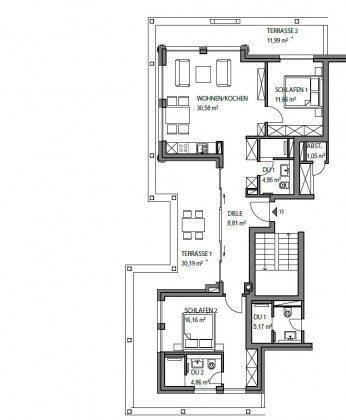 Grundriss Penthouse Ferienwohnung Passat Ref: 181975