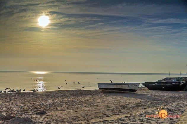 Sonnenuntergang in Baabe am Strand