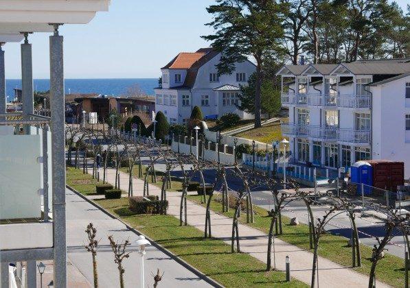 Blick vom Balkon zum Meer Ferienwohnung Baabe Kapitän Blaubär Ref. 189689-1