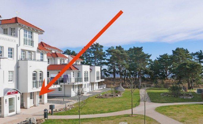 Lage im Haus Meeresblick Baabe Ferienwohnung 01 Wellengang Ref: 194234-1
