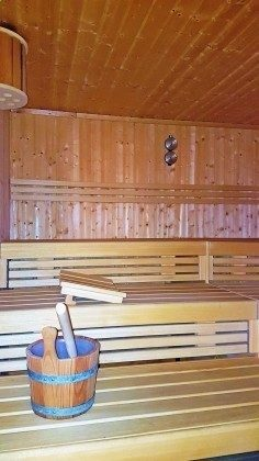 Sauna mit Aufguss