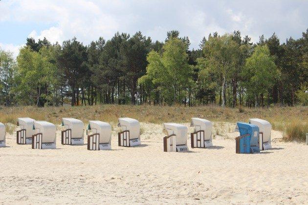 """Strandkörbe am Strand Ferienwohnung 03 """"Ahoi"""" Ref. 211406-1 im Villen-Ensemble"""