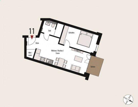 Villen Ensemble Haus Düne, Grundriss Ref: 211410