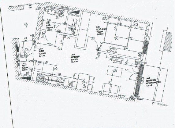 """Grundriss neu Ferienwohnung 43 """"Lebensfreude"""" Ref. 211411 Villen-Ensemble"""