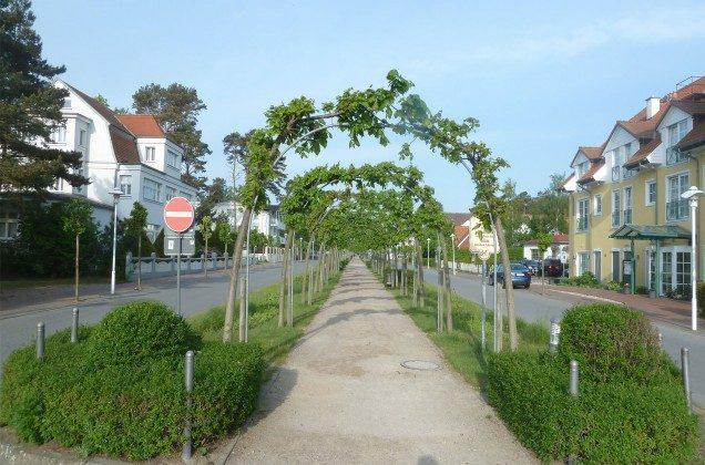 Die Strandstraße in Baabe