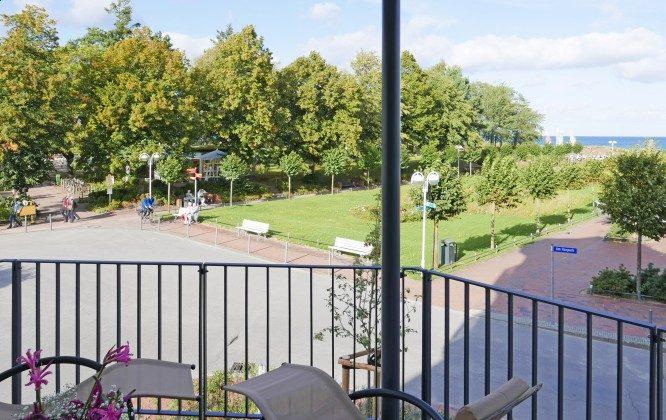"""Blick vom Balkon Ferienwohnung 06 """"Alte Seebrücke"""" Ref. 212177"""