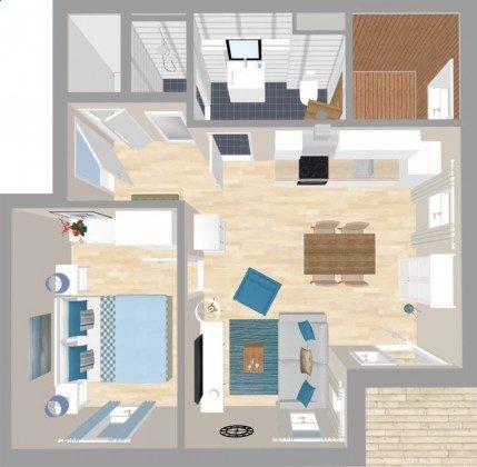 3-D Visualisierung Ferienwohnung Ankerplatz Ref. 212656-1 im Villen Ensemble