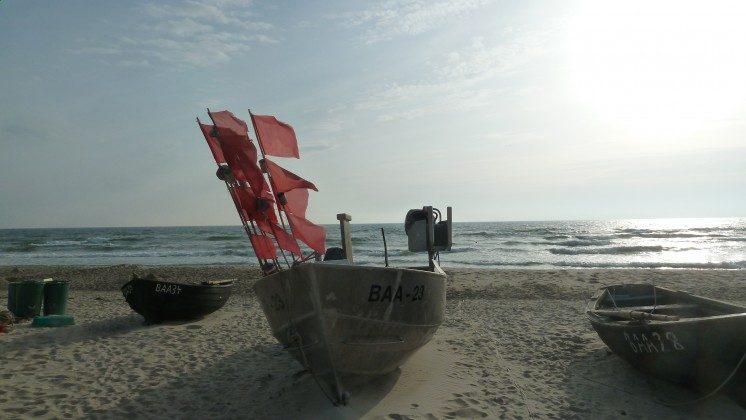 Fischerboote am Strand Baabe, Ferienwohnung 26 Granitz Ref. 213698 im Villen-Ensemble