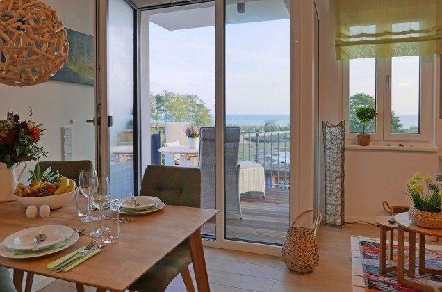 Blick vom Wohnzimmer zum Meer Ferienwohnung Pura Vida 34 Ref. 215429-1 Baabe, Villen-Ensemble