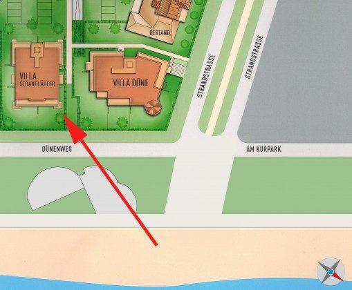 Lage im Villen-Ensemble  Ferienwohnung Pura Vida 34 Ref. 215429-1 Villa Strandläufer