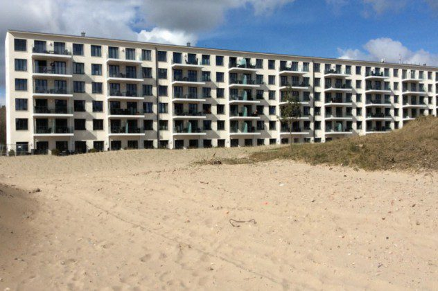 Blick auf Prora vom Strand