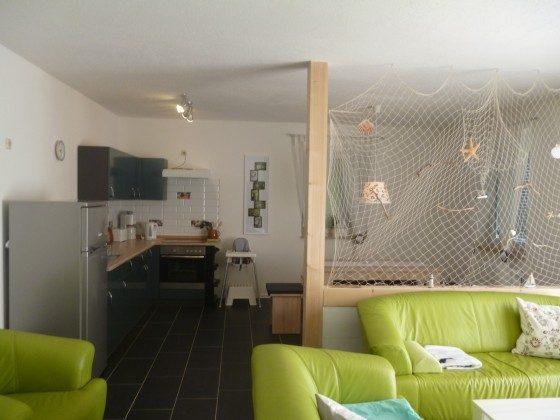 Wohnzimmer mit Essecke und Küche Rügen Lancken Haus Lavendel Ref. 137270-2