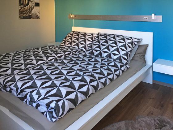 """Apartment """"KlarSchiff"""" Ref. 177870 - Schlafzimmer mit Doppelbett"""