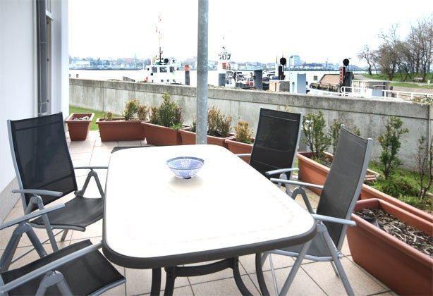 Terrasse Ferienwohnung Zum Lotsen /  REF 22347