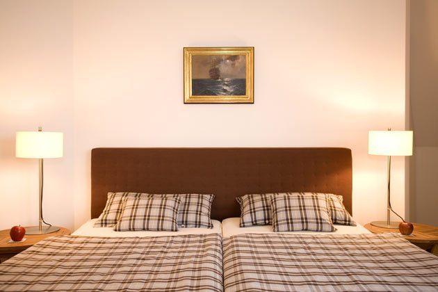 Schlafzimmer Ferienwohnung Warnemünde am Strom