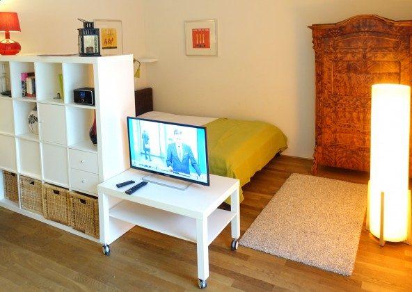 Schlafbereich im Wohnraum Residenz im Kurpark Ferienwohnung Strandkiesel Ref. 39997