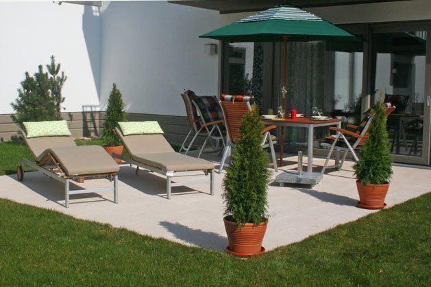 Terrasse Warnemünde Residenz im Kurpark Ferienwohnung Strandkiesel Ref. 39997
