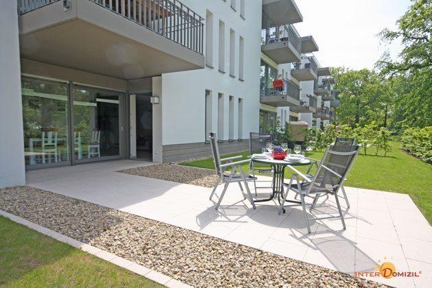 Terrasse Residenz im Kurpark Warnemünde Ferienwohnung Pier 1 Ref. 41248