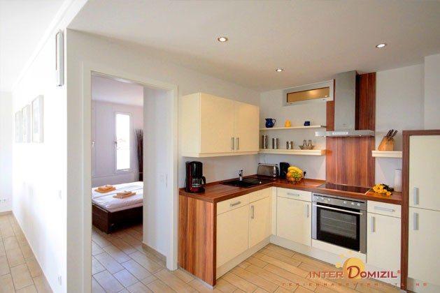 Kueche mit Schlafzimmer 1 Residenz im Kurpark Warnemünde Ferienwohnung Pier 1 Ref. 41248