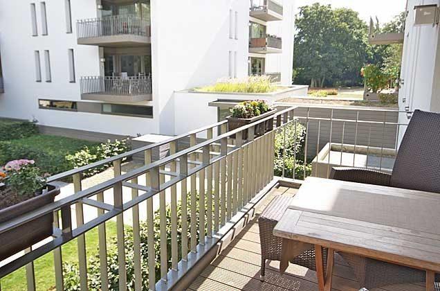 Balkon Residenz im Kurpark  Warnemünde