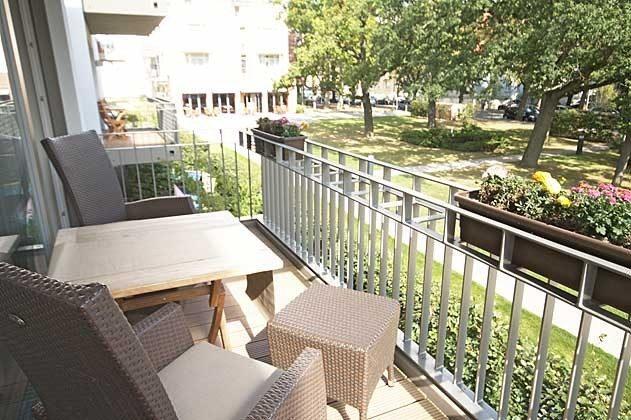 Balkonaussicht Warnemünde Residenz im Kurpark Fewo Strandflieder Ref. 46732
