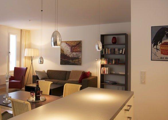 Blick von der Küche Warnemünde Ferienwohnung Sherrytime 2 Ref: 49585-2